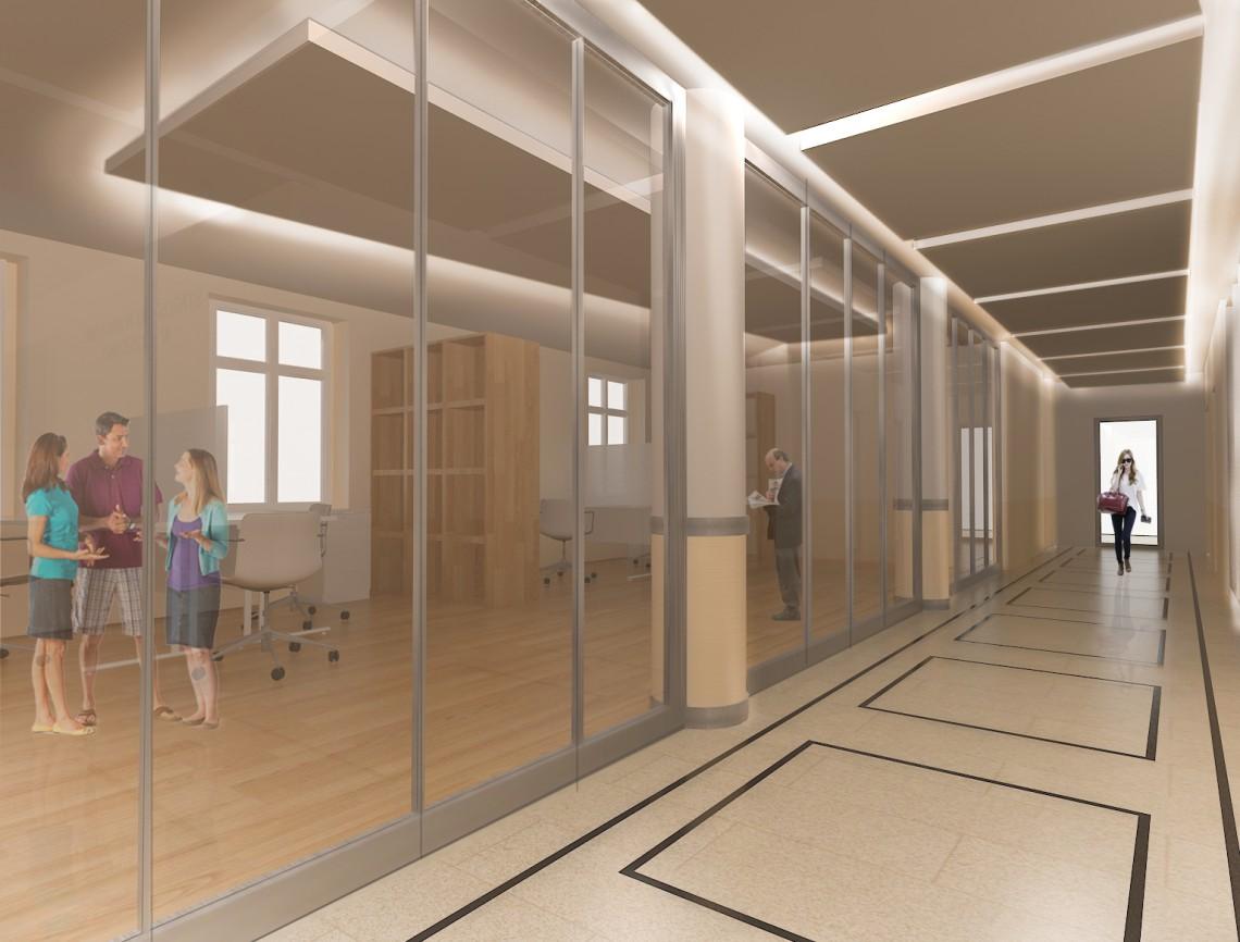 przestrzeń biurowa - open space